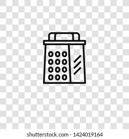 grater icon from  collection for mobile concept and web apps icon. Transparent outline, thin line grater icon for website design and mobile, app development