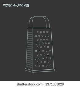 Grater icon line element. Vector illustration of grater icon line isolated on clean background for your web mobile app logo design.
