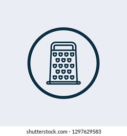 Grater icon. Grater linear symbol design from Kitchen collection. Simple outline element vector illustration on white background - Vector