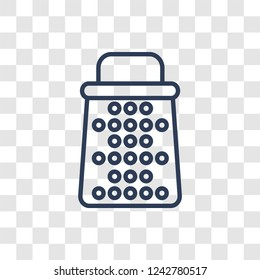 Grater icon. Trendy linear Grater logo concept on transparent background from kitchen collection