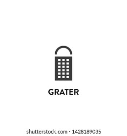 grater icon vector. grater vector graphic illustration