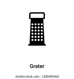 Grater icon vector isolated on white background, logo concept of Grater sign on transparent background, filled black symbol