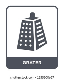 grater icon vector on white background, grater trendy filled icons from Kitchen collection, grater simple element illustration