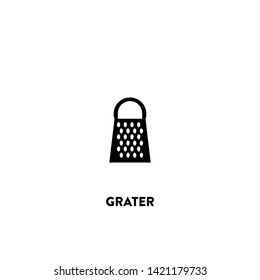grater icon vector. grater sign on white background. grater icon for web and app