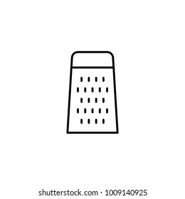 grater thin line icon on white background
