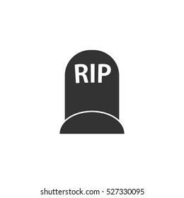 Grave icon flat. Illustration isolated vector sign symbol