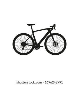 gravel bike on white background vector