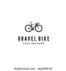 Gravel bike silhouette bicycle icon logo design vector