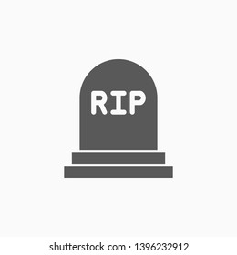 gravestone icon, tombstone vector, bury illustration
