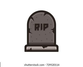 Gravestone inscription rip