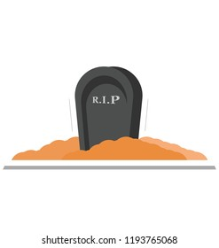 gravestone, tombstone Color Isolated Vector icon which can be easily edit or modified
