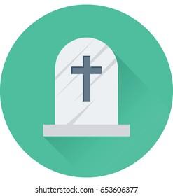 Gravestone Vector Icon