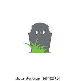 gravestone vector illustration design template