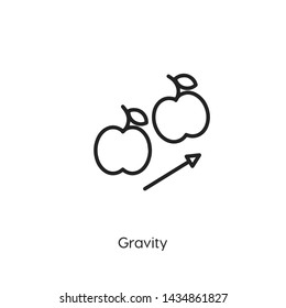 gravity icon vector. gravity symbol. Linear style sign for mobile concept and web design. modern symbol illustration.
