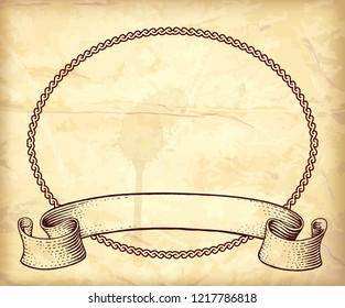 Gravure art frame with ribbon