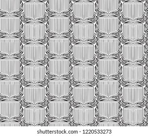 Gravure background. Pattern in hand drawing style