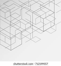 gray abstract background, modern digital illustrations, business lines and creativity, as well as presentations. , Hexagonal geometric pattern ,vector