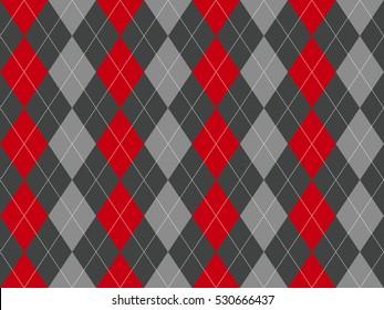 Gray argyle seamless pattern. Flat design. Vector illustration