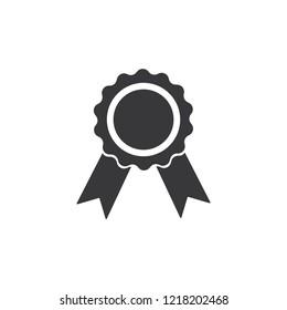 gray award icon isolated on white background