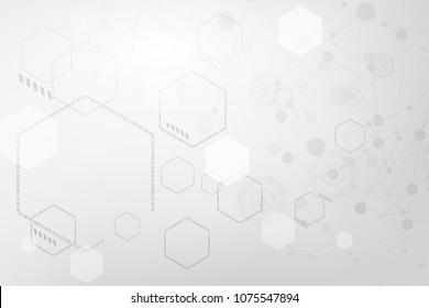 gray backgroud hexagon line polygon pattern