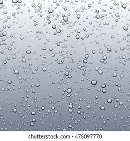 Gray background with bubbles. Vector water illustration.