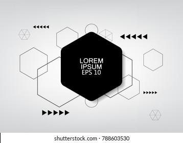 gray background hexagon logo banner template.
