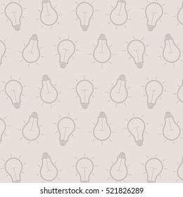 gray background with light bulbs. vector.