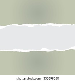 Gray background with torn paper
