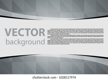 Gray background vector illustration lighting effect graphic for text and message board design infographic