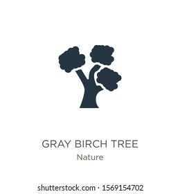 Gray birch tree icon vector. Trendy flat gray birch tree icon from nature collection isolated on white background. Vector illustration can be used for web and mobile graphic design, logo, eps10