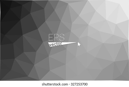 gray black white geometric rumpled triangular low poly style gradient illustration graphic background. Vector polygonal design for your business.