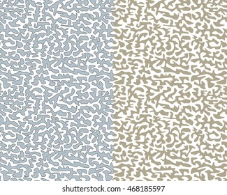 Gray and Blue Abstract Maze Pattern