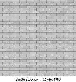 Gray brick wall abstract background, stock vector