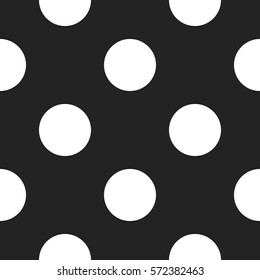 Gray circle seamless pattern. Vector illustration, eps 10