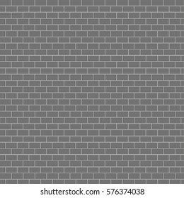 Gray color brick wall background