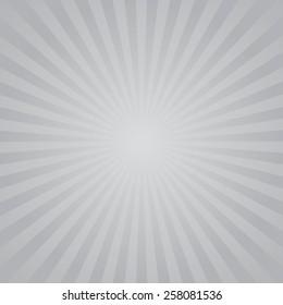 Gray color burst background. Vector illustration