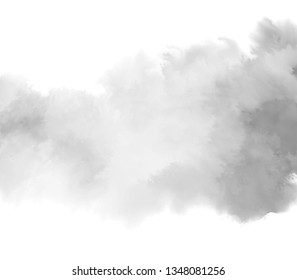Gray color isolated watercolor hand drawn splash liquid graphic wallpaper. Abstract paper texture vector art banner, card, cover, canvas