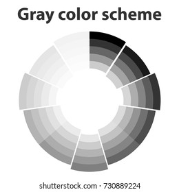Gray color scheme, a set of gray colors. Flat design, vector illustration, vector.