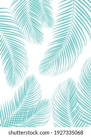 Gray color of tropical leaves pattern style on white color background, flat line vector and illustration.