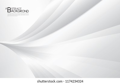 Gray Curve Abstract background, white texture, wallpaper, surface, banner, Cover design layout template, backdrop, textured effect, vector illustration