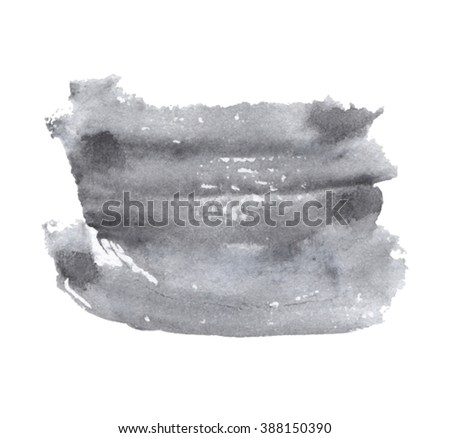 Gray Dark Watercolor Ink Hand Drawn Stock Vector (Royalty