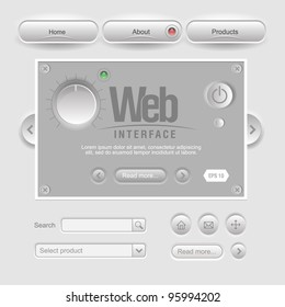 Gray Design Web UI Elements