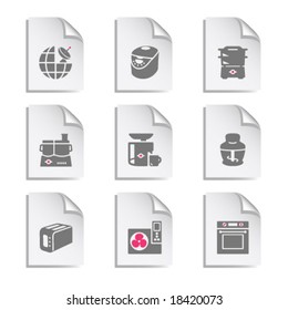 Gray document web icon, set 17