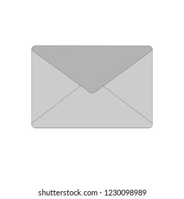 gray envelopes for correspondence