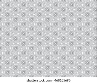 Gray Flower Wheel Pattern