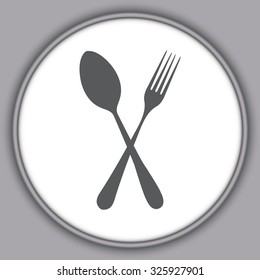 Gray fork and spoon