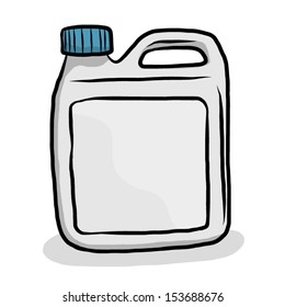 gray gallon with blue cap / cartoon vector and illustration, isolated on white background.