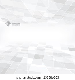Gray geometric abstract background made in vector art