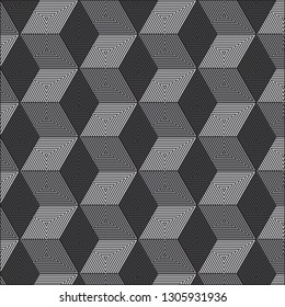Gray geometric pattern abstract vector background. Modern stylish texture.