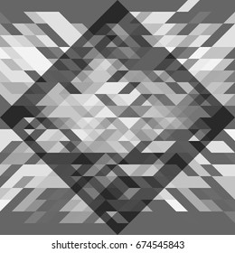 Gray geometric pattern. Abstract vector background. For banner, poster, card, web design